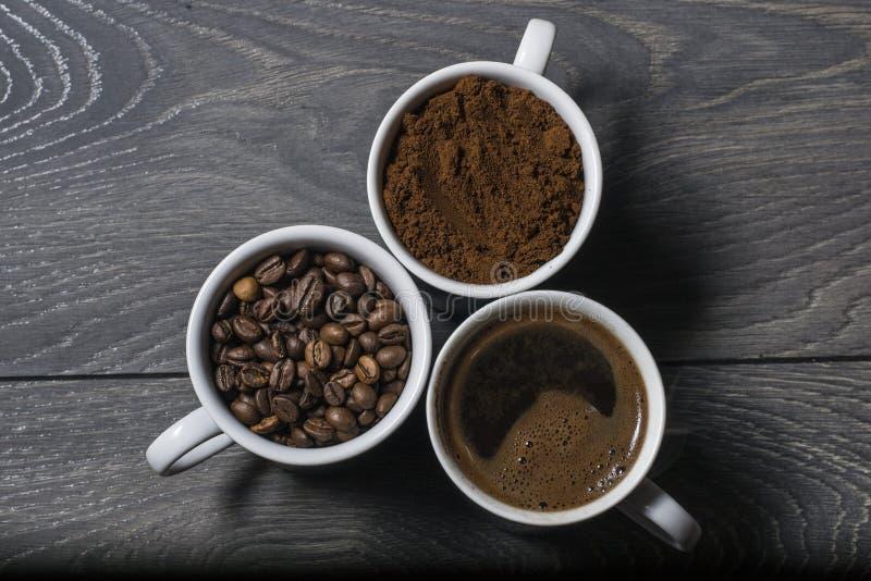 Potrójna mieszanki kawa obraz royalty free