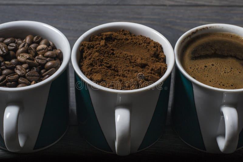 Potrójna mieszanki kawa obrazy stock