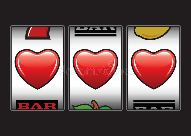 Download Potrójna Serce Szczelin Maszyna Ilustracja Wektor - Ilustracja złożonej z kasyno, wiśnia: 28957951