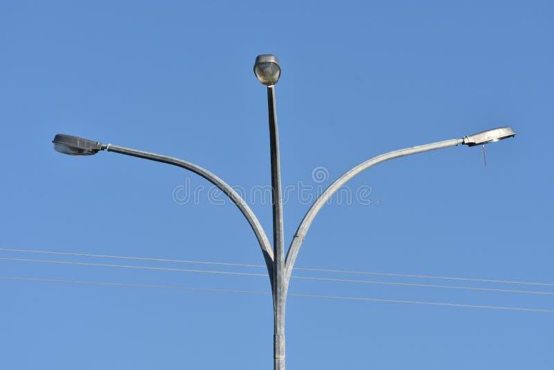 Potrójne latarnie uliczne obrazy stock