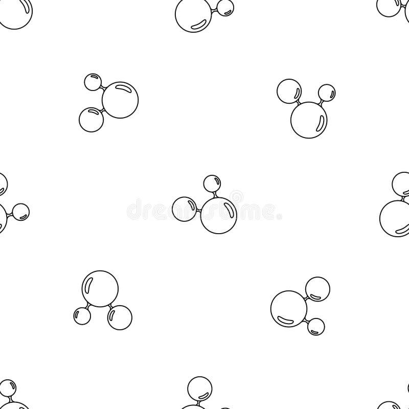 Potrójnego molekuła wzoru bezszwowy wektor royalty ilustracja