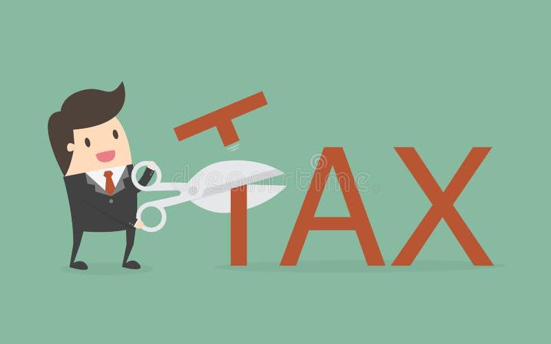 Potrącenie podatku ilustracja wektor