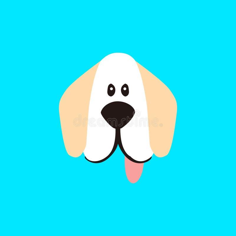 Potrącenie twarzy pies ilustracja wektor