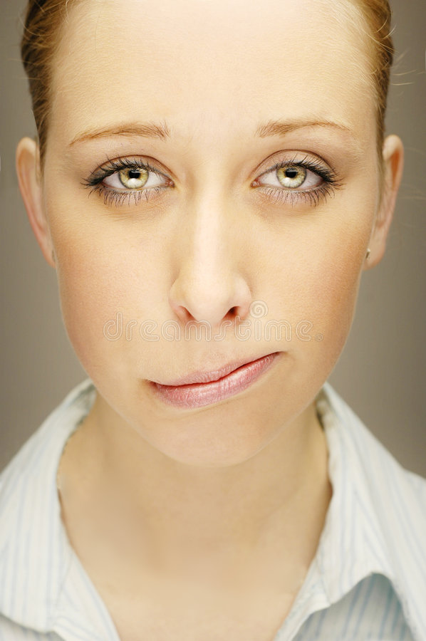 Potrait of angry woman stock photos