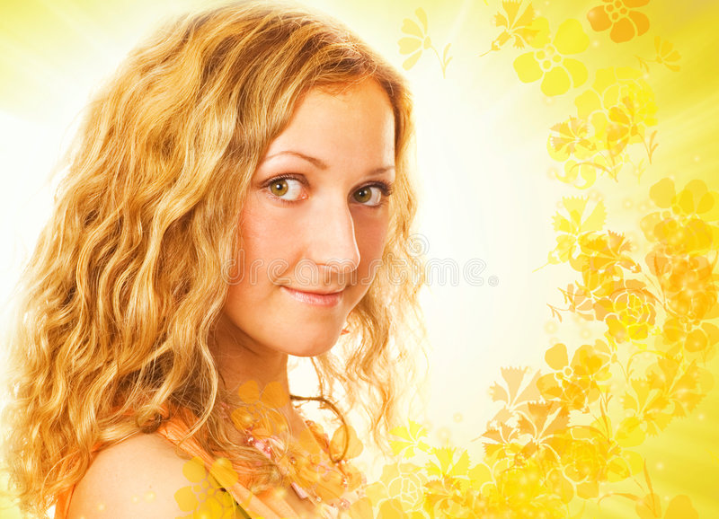 Download Potrait of a beutiful girl stock photo. Image of girl - 2435570