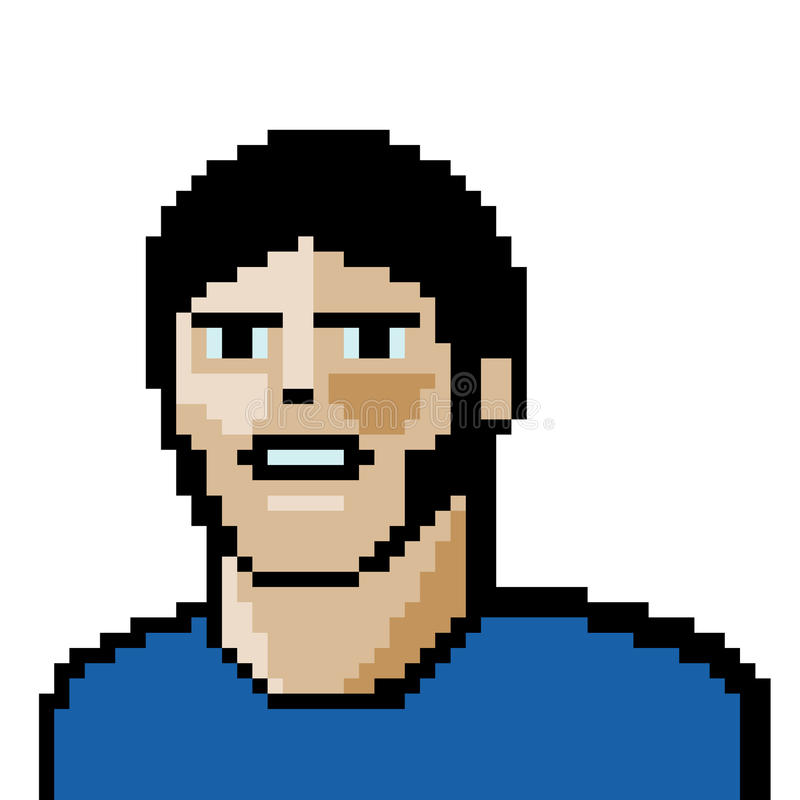 Potrait da arte do pixel ilustração royalty free