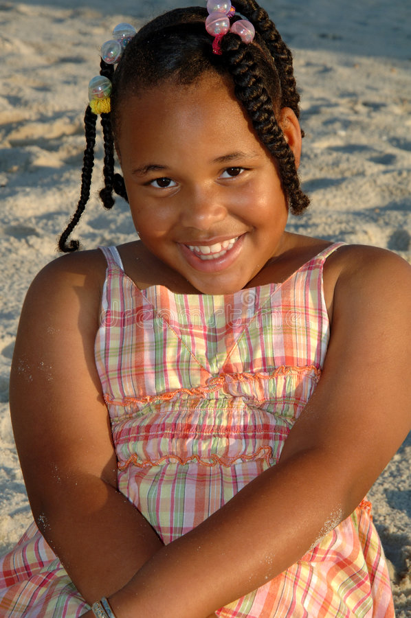 Potrait de la muchacha del afroamericano fotografía de archivo libre de regalías