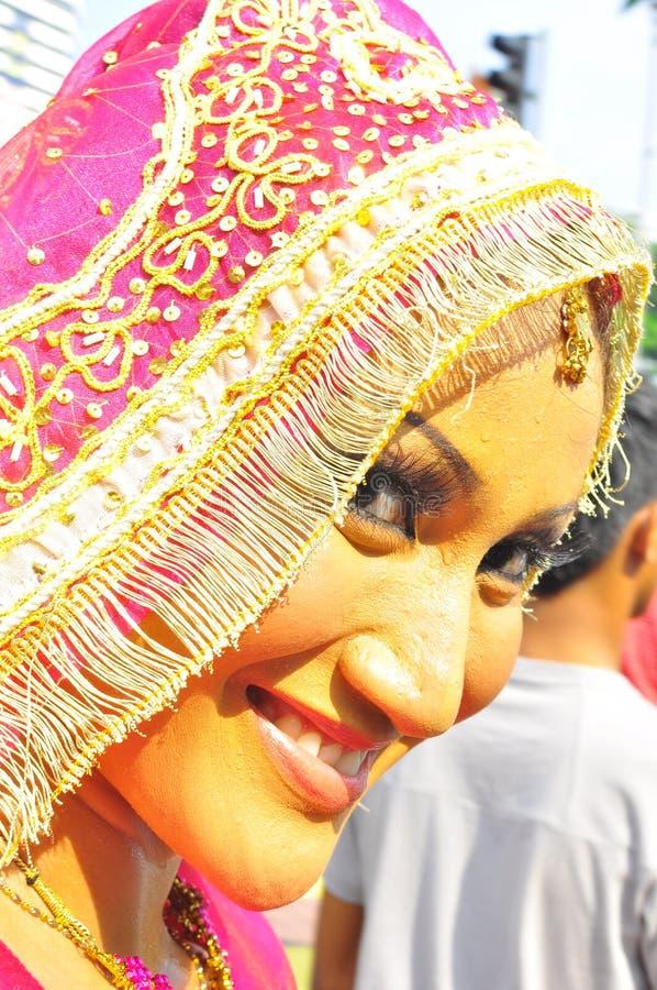 Potrait de uma raça étnica de Malaysia imagens de stock