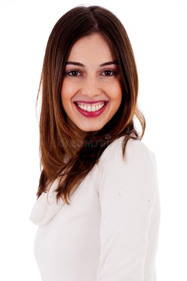 Potrait di bella signora sorridente fotografia stock