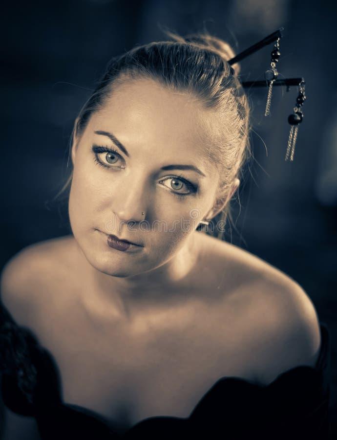 potrait ekspresyjna kobieta zdjęcie royalty free