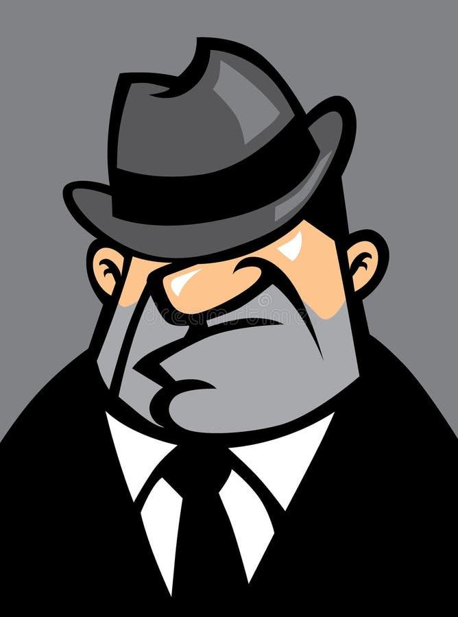 Potrait grasso della mafia royalty illustrazione gratis