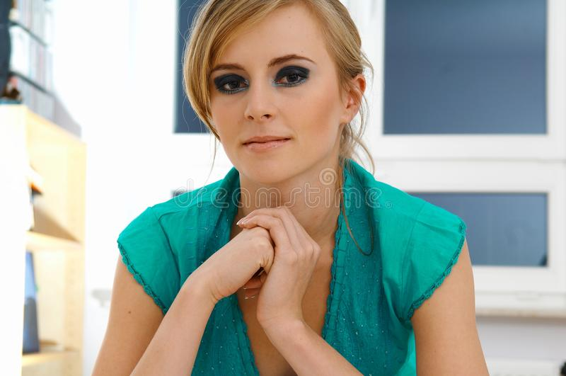 Download Portrait of woman stock image. Image of silence, portrait - 30000647