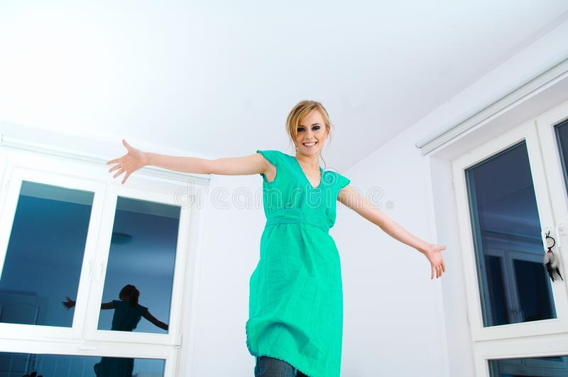 Download Portrait of woman stock photo. Image of indoor, expression - 30001480