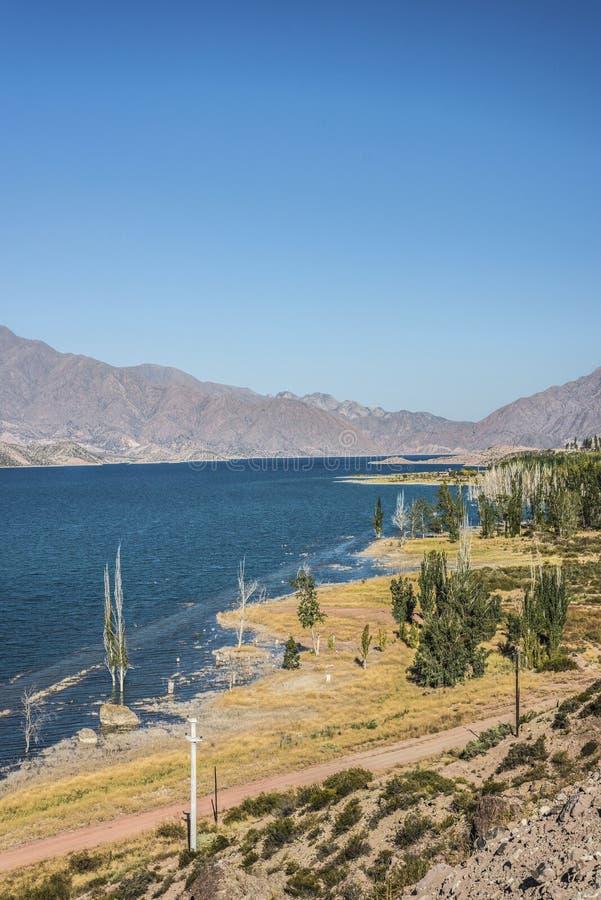Potrerillos水库在Mendoza,阿根廷 库存图片