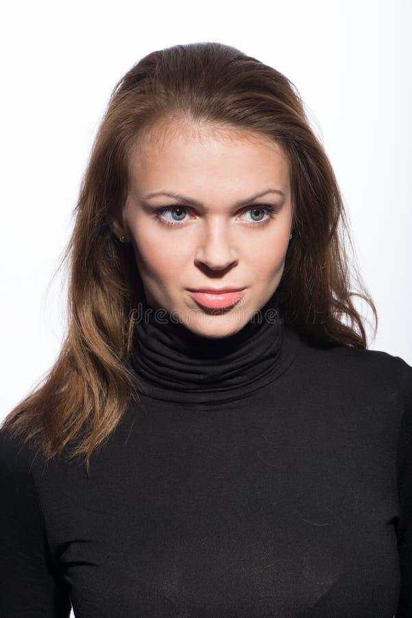 Potrrait de jeune belle femme photos libres de droits