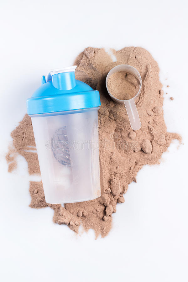 Potrząsacza i proteiny proszek zdjęcia stock