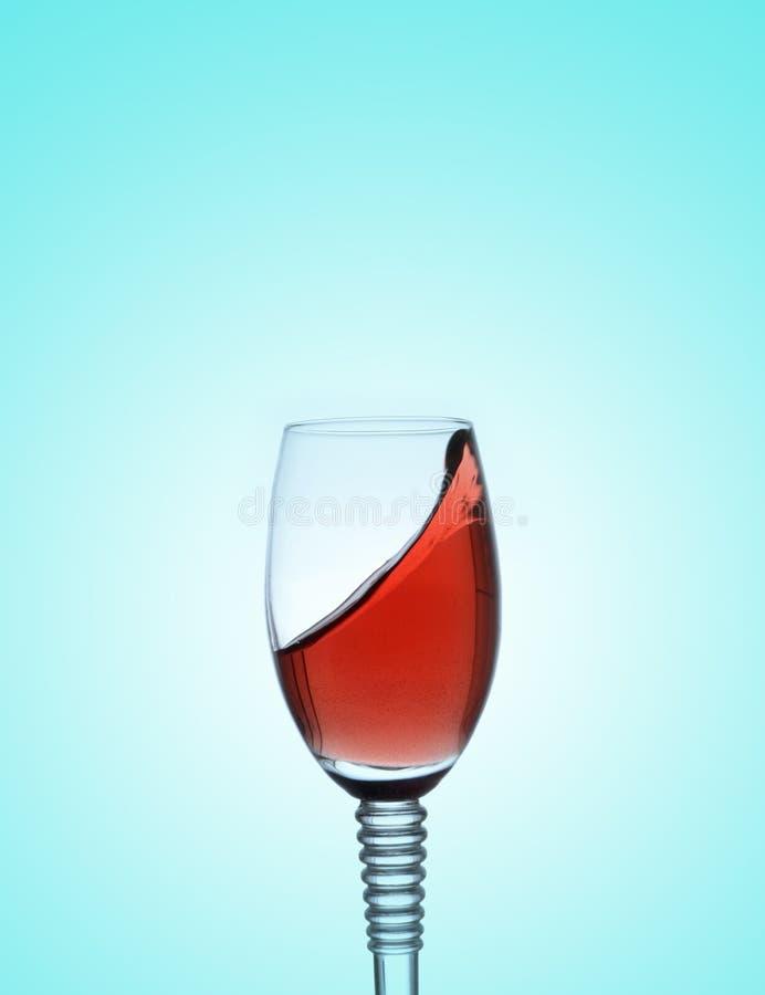 Potrząsalny szkło czerwone wino zdjęcie royalty free