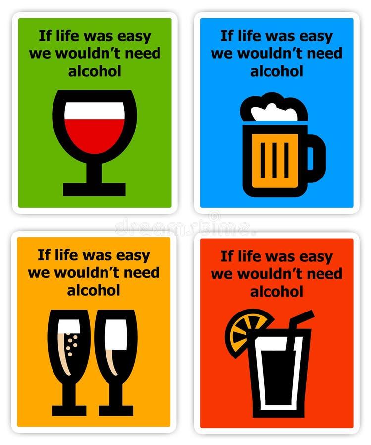 Potrzeba alkohol royalty ilustracja