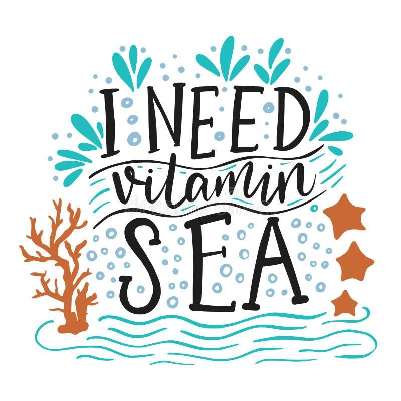 Potrzebuję witaminy morze ilustracji