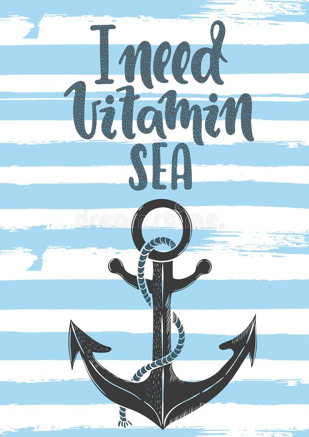Potrzebuję witaminy morze royalty ilustracja
