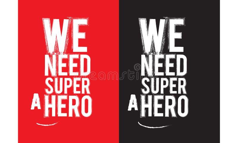 Potrzebujemy super bohatera ilustracji