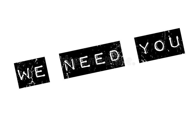 Potrzebujemy Was pieczątka ilustracji