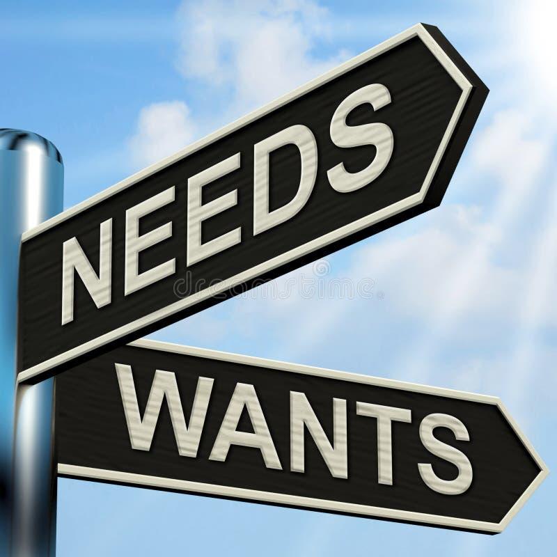 Potrzeby Chcą kierunkowskazów sposobów pragnienie I konieczność ilustracji