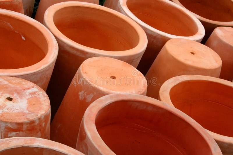 Download Pots stock photo. Image of orange, openings, mouths, planters - 2625528