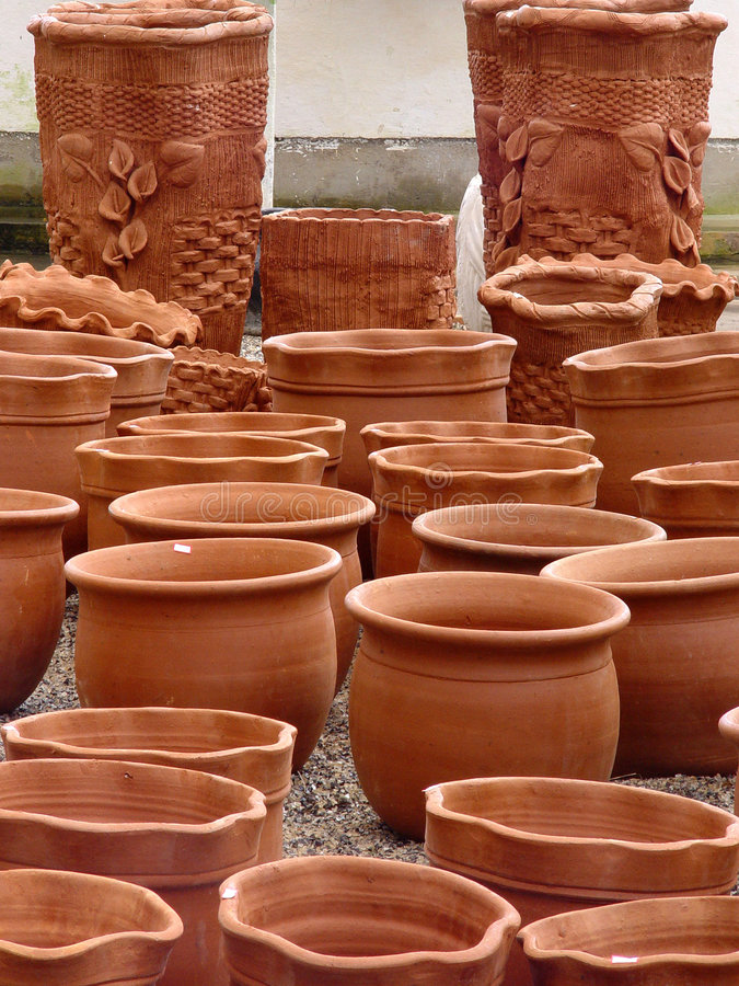 Download Pots stock photo. Image of thumb, bowl, terracotta, flower - 490614