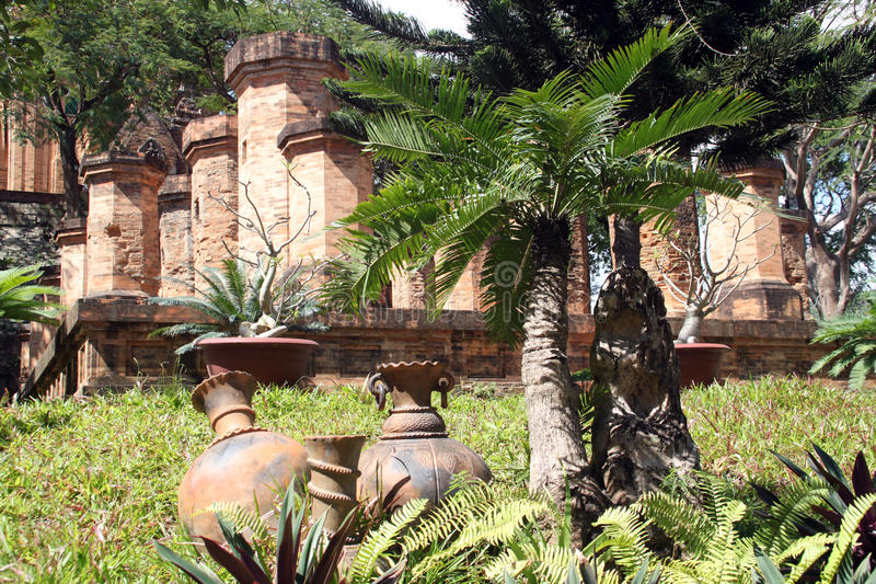 Pots and columns royalty free stock photos