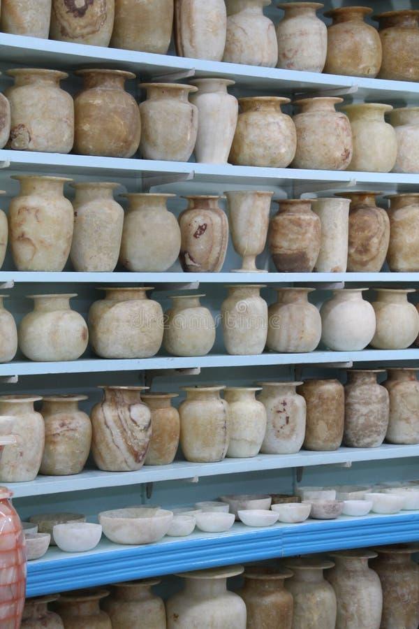 Pots d'albâtre photographie stock libre de droits