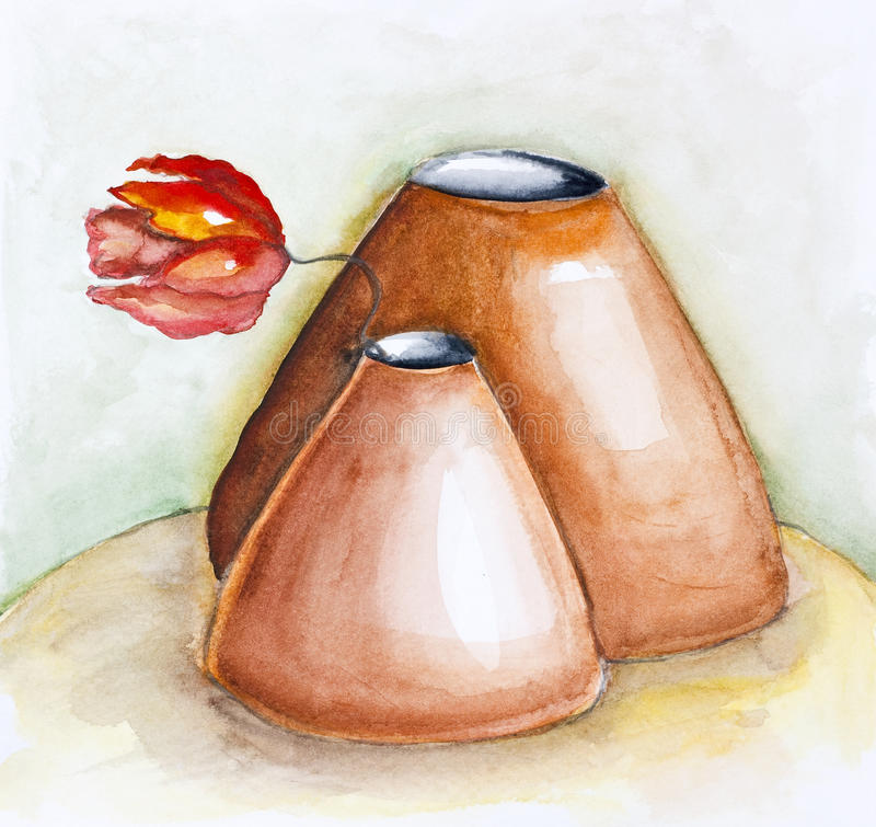 Pots d'argile doux illustration libre de droits