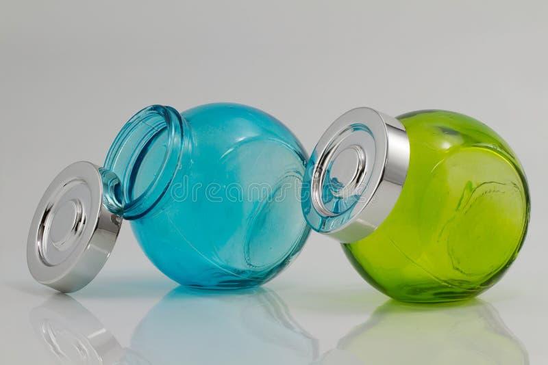 Pots de couleur image stock