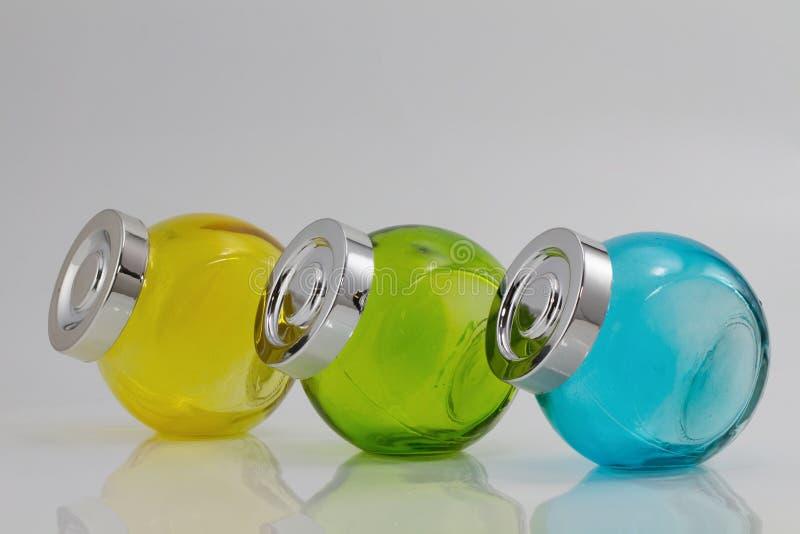 3 pots de couleur photographie stock libre de droits