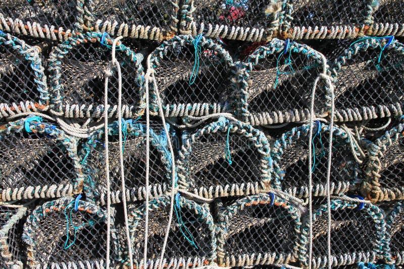 Pots de homard empilés image libre de droits
