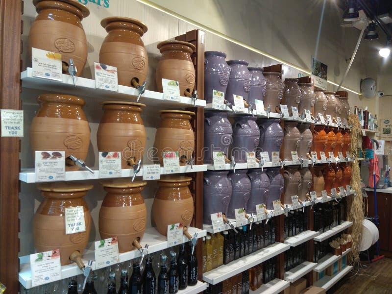 Pots de vinaigrette photo stock