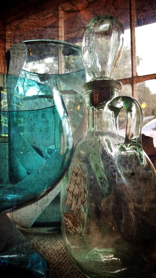 Pots en verre image libre de droits