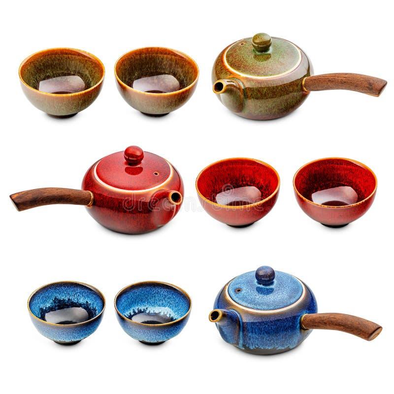 Pots et tasses de thé japonais photos libres de droits