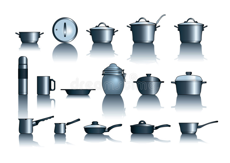 Download Pots&pans stock vector. Illustration of illustrations - 2064245