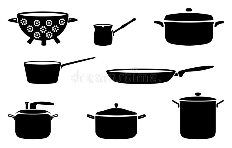 Download Pots and pans stock vector. Illustration of icon, illustrations - 7279552