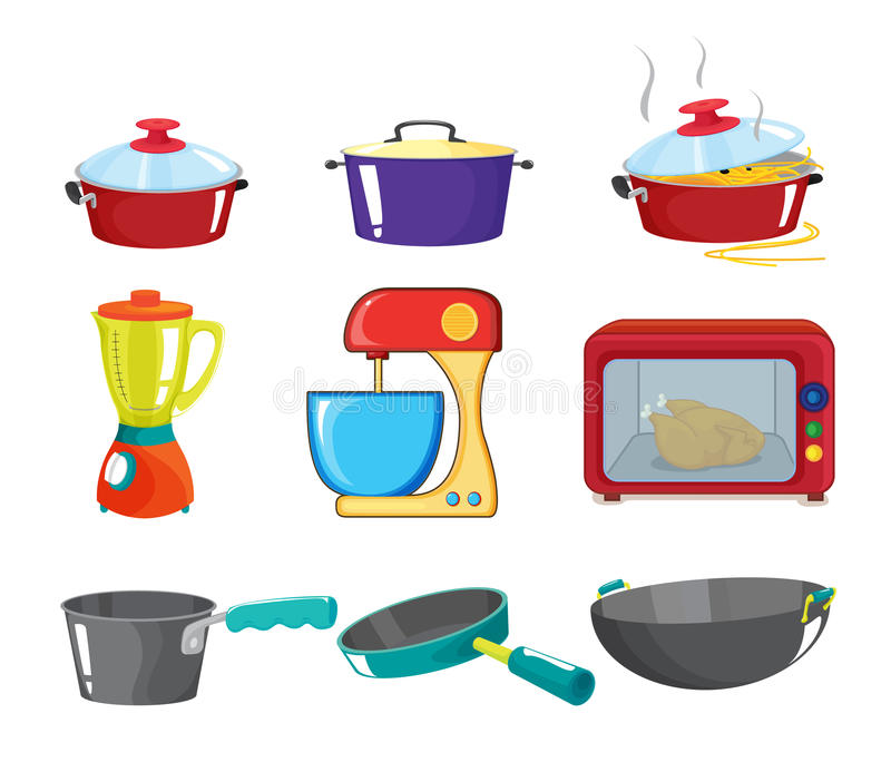 Pots and pans series royalty free illustration
