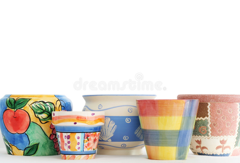 Download Pots In A Row Royalty Free Stock Images - Image: 2315039