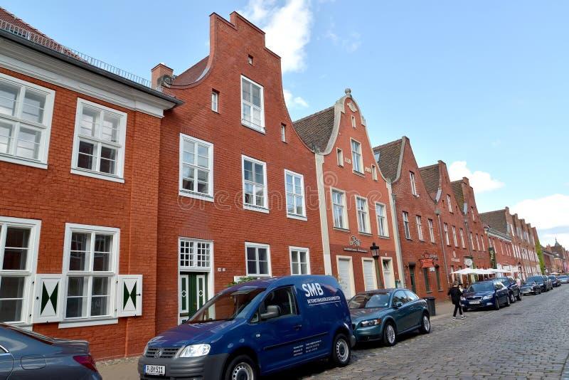 Potsdam, Duitsland Huizen in het Nederlandse kwart stock afbeeldingen