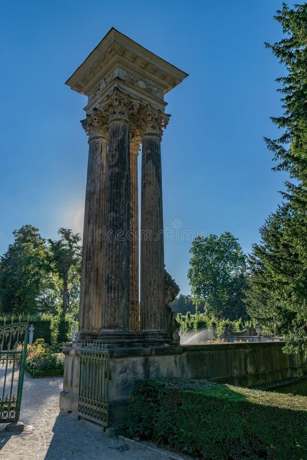 Potsdam SansSouci, Alemanha, a casa de verão de Friedrich o grande imagem de stock