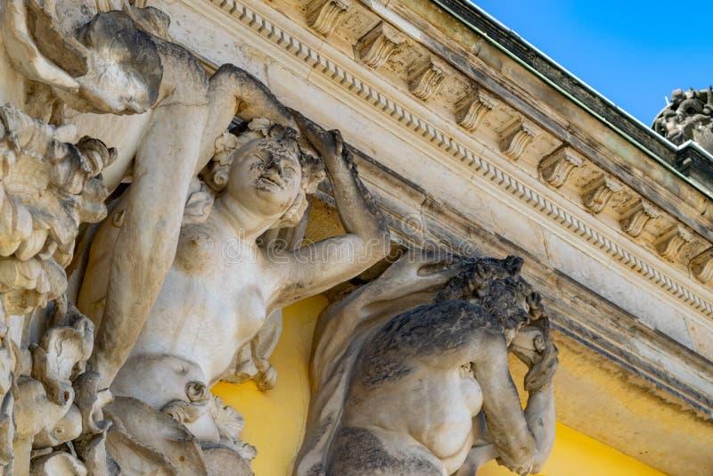 Potsdam SansSouci, Alemania, la casa de verano de Friedrich el grande foto de archivo