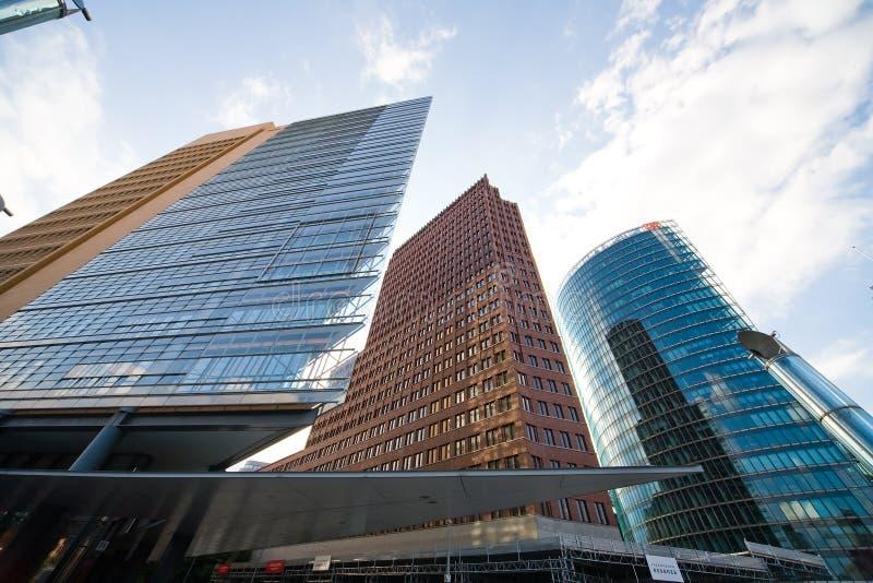 potsdamer platz зданий berlin самомоднейшее стоковое изображение