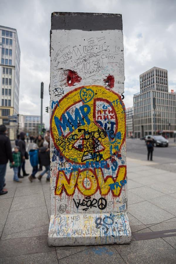 Potsdamer platz Berlin ściany kawałek Germany zdjęcia stock
