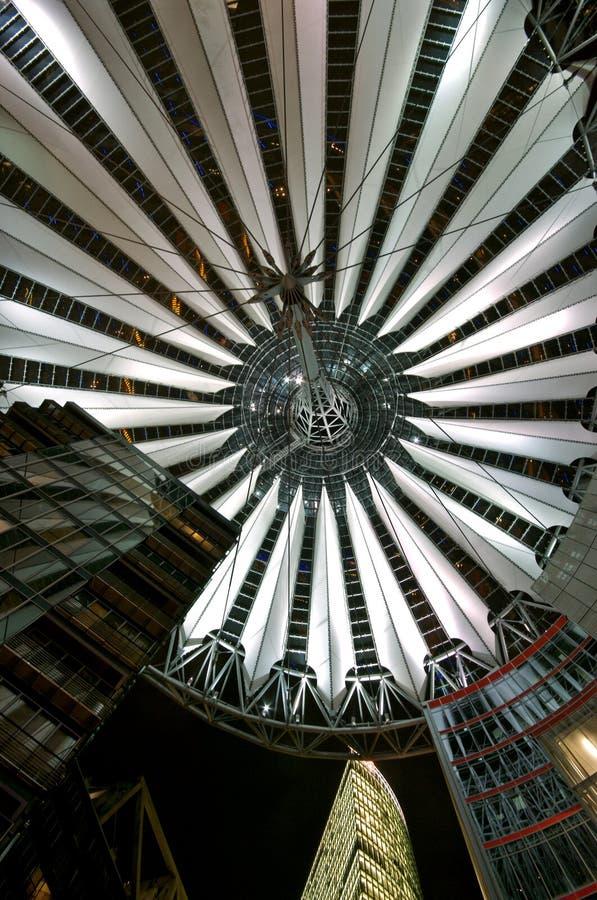 Potsdamer Platz en la noche imagen de archivo libre de regalías
