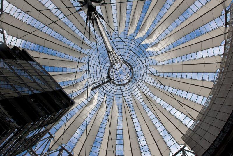 Potsdamer Platz i Berlin, Tysklandet, Sony centrerar fotografering för bildbyråer