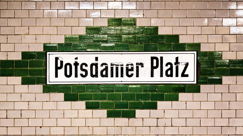 Potsdamer Platz sign royalty free stock image